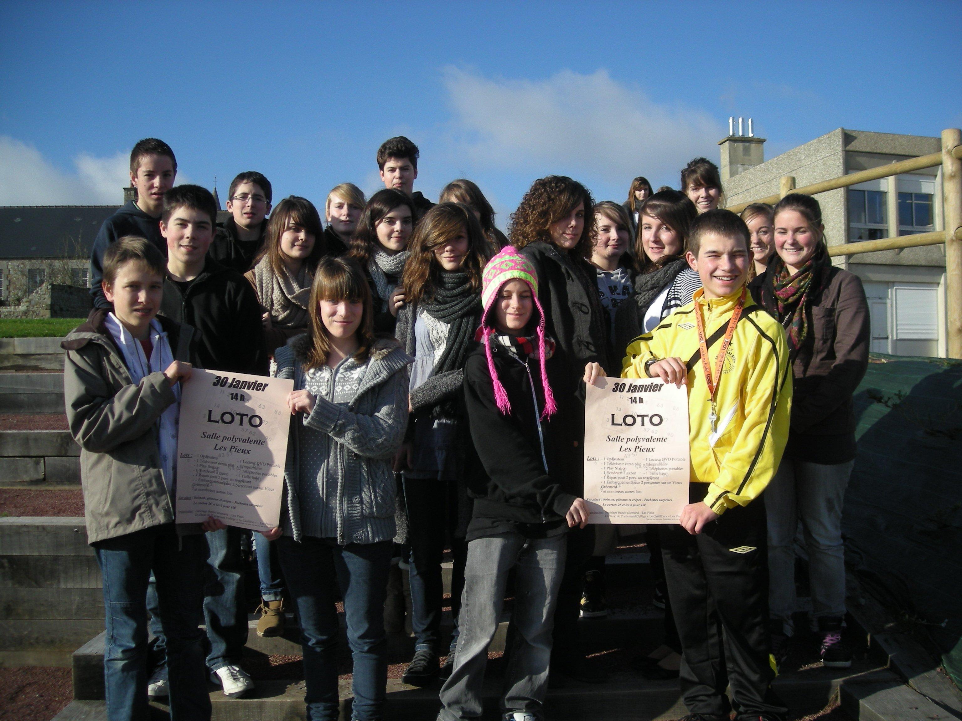 Photo du groupe d'élèves participant